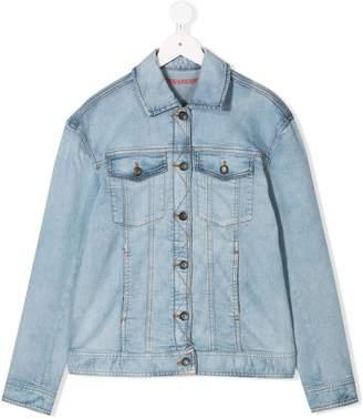 Zadig & Voltaire Kids TEEN Rainbow denim jacket