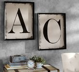 Pottery Barn Painted Type Letter Framed Prints