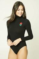 Forever 21 FOREVER 21+ Rose Embroidered Bodysuit