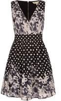 Yumi Floral Polka Dot Print Skater Dress