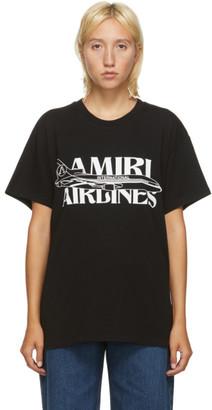 Amiri Black Airplanes T-Shirt