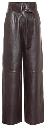 Stand Studio Jenna high-rise wide-leg leather pants
