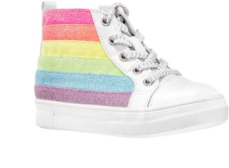 Nina Kolette Glitter Stripe High Top Sneaker