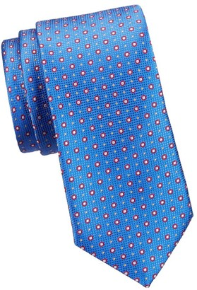 Saks Fifth Avenue Multi-Dot Woven Silk Tie