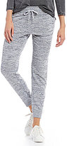 Calvin Klein Marled Knit Zip Cuff Jogger Pants