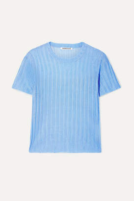 Georgia Alice Lola Ribbed-knit Sweater - Sky blue