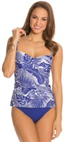 Jantzen Palm Reader Twist Front Tankini Top 8123650
