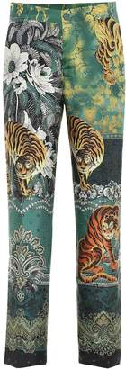 F.R.S For Restless Sleepers Tartaro printed silk straight pants
