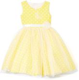 Yellow Polka Dot A-Line Dress - Infant Toddler & Girls