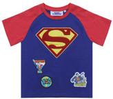 Fabric Flavours Superman Chenile Logo Badge Tee