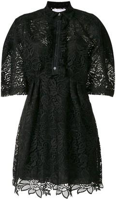 Carolina Herrera Lace Short-Sleeve Shirt Dress