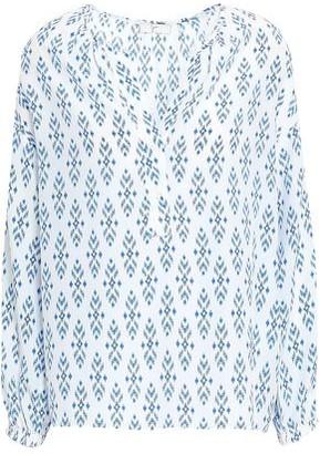 Joie Dimna Printed Silk Crepe De Chine Blouse