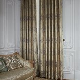 IYUEGO Country Floral Jacquard Polyester Grommet Top Window Curtains/Drape/Panels/Treatment With Multi Size Custom (One Panel)
