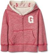 Gap Logo marl zip hoodie