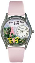 Whimsical Watches Women's S1110002 Time For The Cure Pink Leather Watch