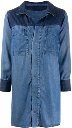 Diesel Two-Tone Denim Shirt