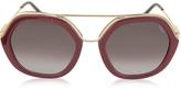 Emilio Pucci EP0014 Glitter Gold Metal & Acetate Round Sunglasses