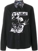 Prada comic book print shirt