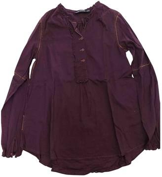 Antik Batik Burgundy Cotton Top for Women