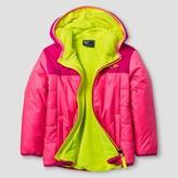 Champion Toddler Girls' Hooded Puffer Jacket - Pink