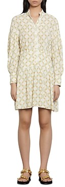Sandro Magy Printed Shirt Dress