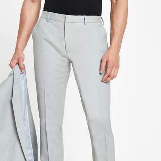 River Island Mens Mint Green skinny suit trousers