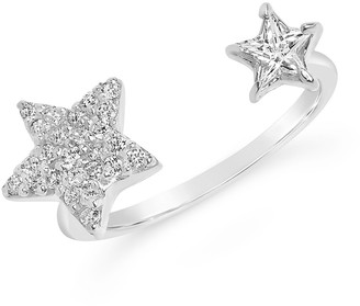 Sterling Forever Sterling Silver CZ Open Star Ring