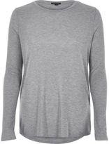 River Island Womens Grey basic top