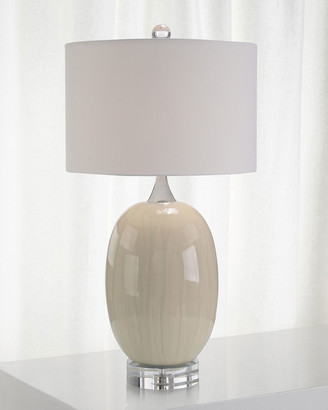 John-Richard Collection Ceramic Table Lamp with Crystal Base