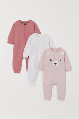 H&M 3-pack Cotton Pajamas - Pink