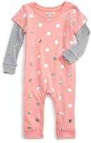 Infant Girl's Peek Polka Dot Romper