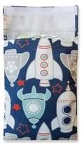 Tiny-Tote-Along Rocket Print Diaper Bag in Grey