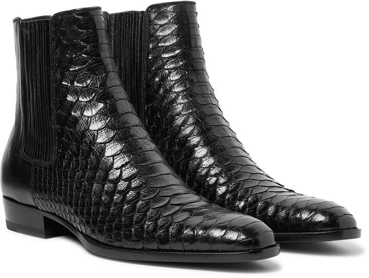 ab097da1fac Wyatt Python And Leather Chelsea Boots