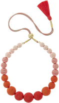 Suzanna Dai Ombré Gumball Necklace Coral 1SIZE