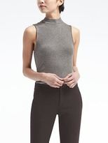 Banana Republic Ribbed Mock-Neck Shell