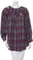 Thomas Wylde Printed Silk Blouse
