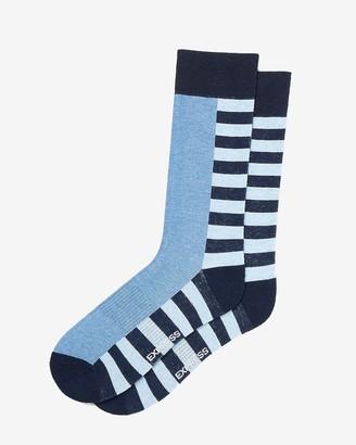 Express Navy Stripe Dress Socks