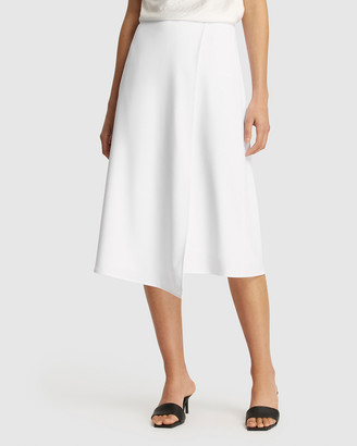 FRIEND of AUDREY - Women's White Pencil skirts - Leigh Wrap Skirt - Size One Size, 8 at The Iconic