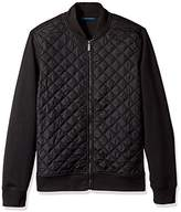 Perry Ellis Men's Quilted Nylon Full Zip Jacket