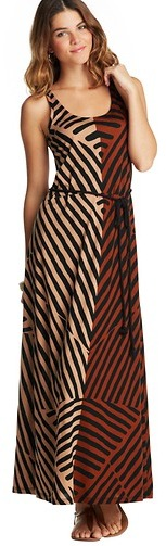 LOFT Tall Colorblocked Web Stripe Racerback Maxi Dress