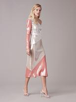 Diane von Furstenberg One-Shoulder Sequin Bias Dress