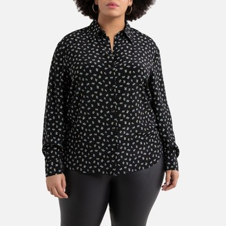 La Redoute Collections Plus Floral Print Shirt with Long Sleeves