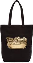 Marc Jacobs Black Hot Dog Logo Tote