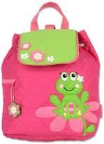 Stephen Joseph Little Girls' Quilted Backpack, Frog