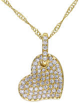 Concerto 14K Yellow Gold and 0.25TCW Diamonds Heart Pendant Necklace