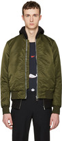 Paul Smith Green Nylon Bomber Jacket