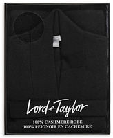 Lord & Taylor Cashmere Belted Robe Cardigan