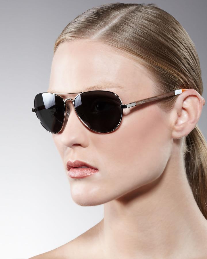 Toms Classic 301 Aviator Sunglasses, Orange