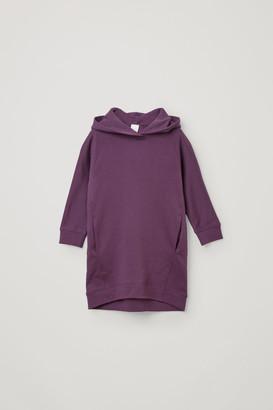 Cos Hooded Organic Cotton Sweatshirt Dress