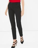 White House Black Market Petite Premium Bi-Stretch Pinstripe Slim Ankle Pants